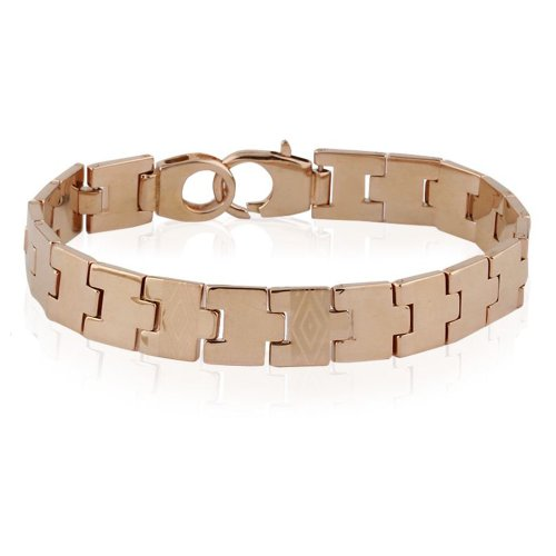 Alpha Man Rustic Steel Bracelet For Men(AM_BR_SS_026) (grey)