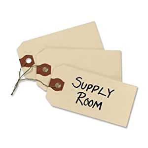 """Avery Manila """"G"""" Shipping Tags, Wired, 3.75 x 1.875-Inches, Pack of 1000 (12603)"""