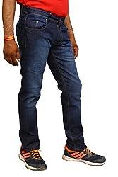 BRAND AMERICA Men's Blue Strechable Jeans