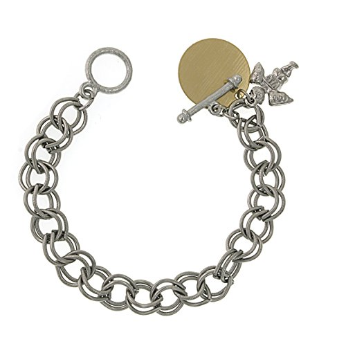 1928 Jewelry Silver Angel Custom Engraved Charm Bracelet