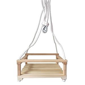 Giocattolo in legno altalena grande per bambini con corda for Altalena amazon