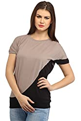 Cation Women Beige & Black Top