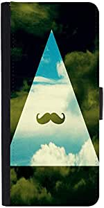 Snoogg Hipster Sky Mustache Designer Protective Phone Flip Case Cover For Redmi 2 Prime