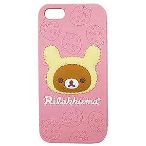 グルマンディーズ リラックマ iPhone5専用シリコンジャケット GRC-52A
