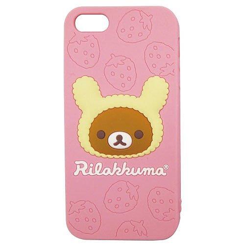 Great Price Rilakkuma Love For Strawberries Silicone iPhone 5 Case (Rilakkuma)