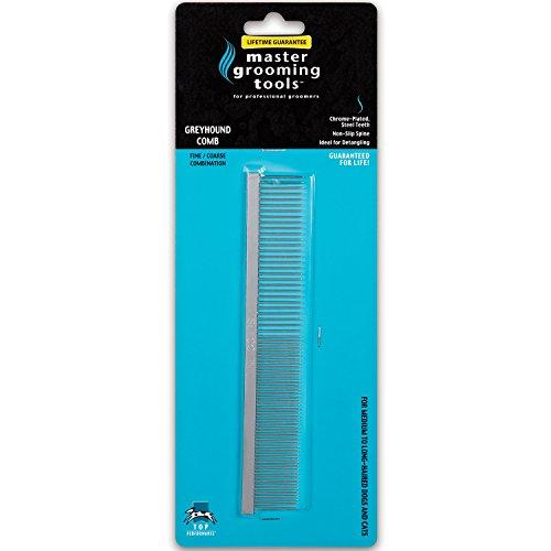 Artikelbild: Master Grooming Tools Fine/Coarse Steel Greyhound Comb Hundekamm