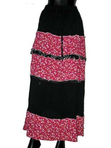 Casual Skirts -Black Color Wrap Girls Comfortable Clothing In India Size 39 For Free Shipping