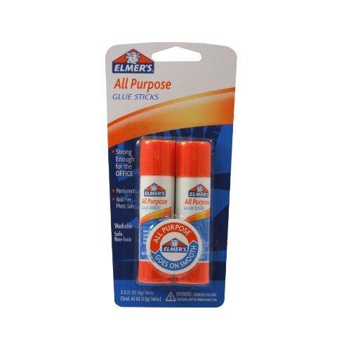 Elmer'S All-Purpose Glue Sticks, 0.21 Oz Each, 2 Sticks Per Pack (E512) front-672888
