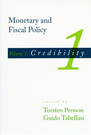 Monetary and fiscal policy, - Credibility