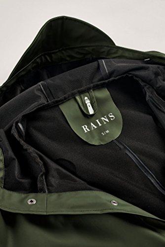 Rains Herren Regenmantel Long Jacket, Grün, L -