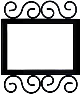 Wrought iron house number frame villa 3 home for House number frames