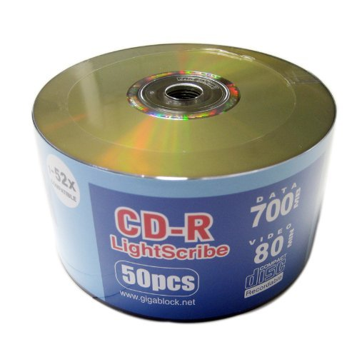 600pcs CD-R 52x for Lightscribe Disc Printing Blank Media