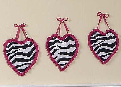 Funky Zebra Wall Hanging Accessories by JoJo Designs