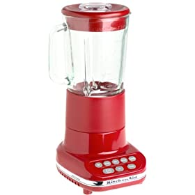 Red Kitchen Aid 5 Speed Blender