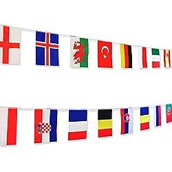 CoolChange Ghirlanda con bandiere dei 24 Paesi partecipanti al campionato  europeo 2016 76bb2e242c0e