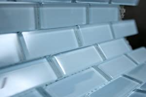 powder room blue 1 x3 light blue glass tile price per