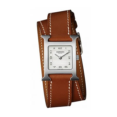 Hermes H Hour Small Ladies Quartz Watch with Double Wrap Strap - 036717WW00