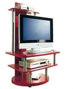tv rack lupita in rot 360 grad drehbar k che haushalt. Black Bedroom Furniture Sets. Home Design Ideas