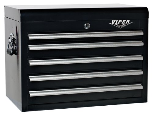 Images for Viper Tool Storage V2605BLC 26-Inch 5-Drawer 18G Steel Tool Chest, Black