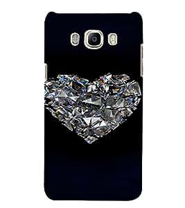 PrintVisa Romantic Love Diamond 3D Hard Polycarbonate Designer Back Case Cover for Samsung Galaxy J7 2016 Edition