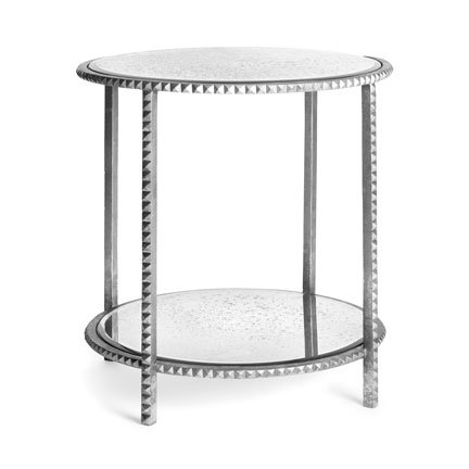 Image of Emporium Home Stud Silver End Table (B009H0PE5A)