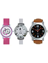 Volga Designer Dial Multicolor Combo Watch In Deal At Great Offer - For Men, Boys, Girls And Womens