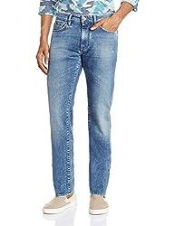 Gas Men's Morris Straight Fit Jeans (8056775103455_85699WK22_36W x 34L_Blue)