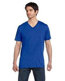 Canvas for Men's Delancey V-Neck T-Shirt, TRUE ROYAL, Large