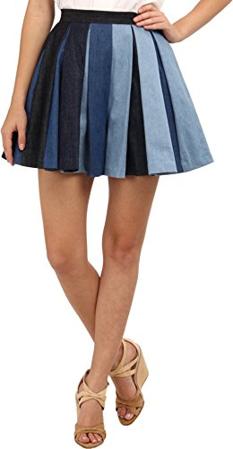 DSQUARED2 Women's S73MU0135 STN440 Shorts/Skirt Denim Skirt 48 (US 10)