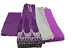 Alankar Textiles Panjabi Suit Piece Purple Color Cotton Dress Material