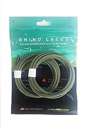 Rhino Laces - Unbreakable Shoelace- Foliage Green - Extra Large (1 Pair, 10-14 pairs of eyelets)