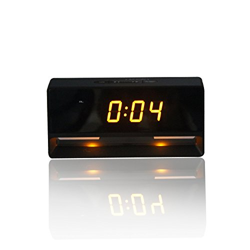 Esumic High Quality Led Alarm Clock Travel Alarm Clock Projection Clock With Gold Led Display