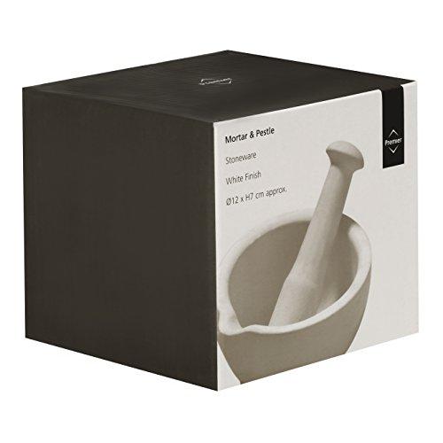Premier Housewares Stoneware Mortar and Pestle, White