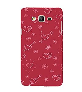 EPICCASE Hearty pattern Mobile Back Case Cover For Samsung Galaxy E7 (Designer Case)