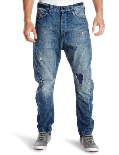 Religion Dillon Drop Crotch Men's Jeans Blue Denim X Large