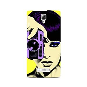 Motivatebox- Chick who Clicks Premium Printed Case For Lenovo A2010 -Matte Polycarbonate 3D Hard case Mobile Cell Phone Protective BACK CASE COVER. Hard Shockproof Scratch-