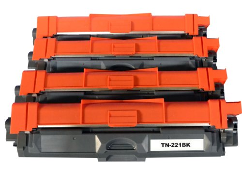 4 pack(1 black +1 each color)Cooltoner Brand New Compatible Toner Cartridge TN-221 for Brother HL-3140CW/3150CDW/3170CDW, MFC-9130CW/9140CDN /9330CDW/9340CDW, DCP-9020CDW