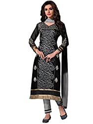 Kavvya Fashion Black Cambric Cotton Dress Material