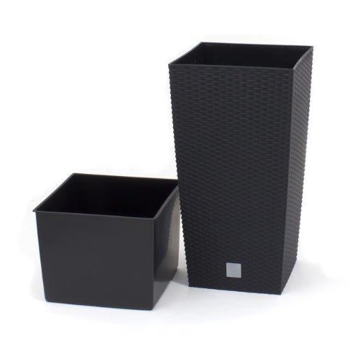 Terra-Vase-Rato-aus-Kunststoff-mit-Einsatz-Grau-60-cm