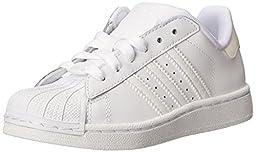 adidas Originals Superstar II Sneaker (Little Kid/Big Kid),White/White/White,1 M US Little Kid