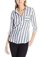 Maison Scotch Camisa Mujer (Blanco / Azul)