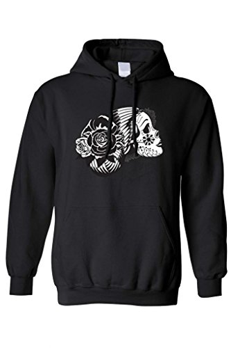 Unisex Day Of The Dead Sugar Sugar Skull Pullover HOODIE