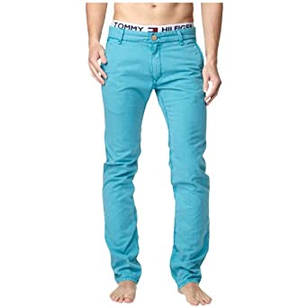 Tommy Hilfiger Freddy Ft Gd Slim Men's Jeans -  Turquoise - Türkis (435 PEACOCK BLUE) - 38W/34L