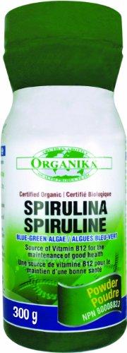 Organika Certified Organic Spirulina Powder, 300 Grams