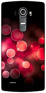 Snoogg Red Bubbles Designer Protective Back Case Cover For LG G4