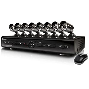 Swann SWDVK-825508 8-Channel Digital Video Recorder with Smartphone Viewing and 8 x 600TVL Cameras