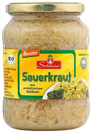 シュヴァイツァー「Schweizer」有機ザワークラウト(720ml), Organic Sauerkraut
