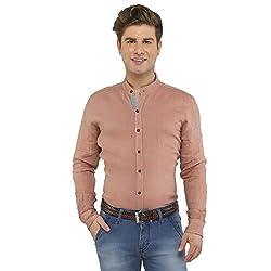 Attila Men's Casual Shirt (2206495603_Red_38)