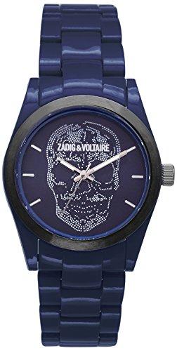 Zadig & Voltaire  - Reloj de cuarzo unisex, correa de plástico color azul