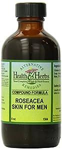 Alternative Health & Herbs Remedies Rosacea Skin Formula, male, 4-Ounce Bottle
